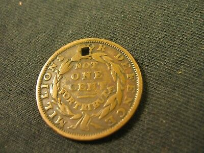 Patriotic Token   1837 Not One Cent For Tribute, Millions For Defense.
