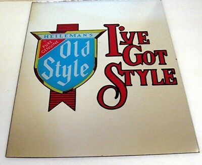 Old Style Beer I've Got Style Heileman Brewing Carnival Mirror Old Store Stock