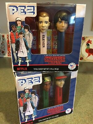 NEW Netflix STRANGER THINGS Candy PEZ Collector Set MIKE Dustin ELEVEN Lucas NIB
