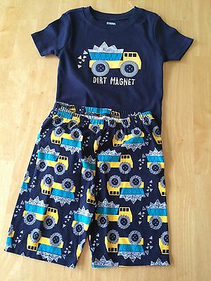 NWT Gymboree Boys Gymmies Dump Truck Shortie Pajamas 12 18 24M 3 5 6 8 10 12