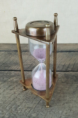 Nautical Vintage Style Brass Sand Timer, NEW