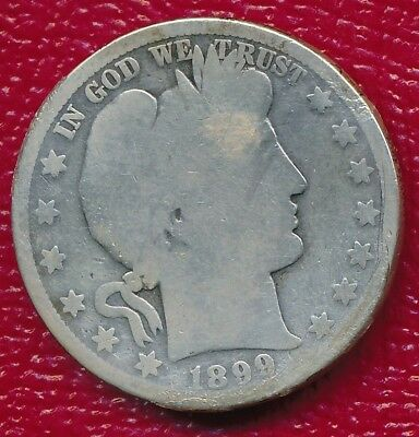 1899-O Barber Silver Half Dollar **historic New Orleans Mint** Free Shipping