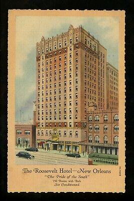 Louisiana LA postcard New Orleans, The Roosevelt Hotel linen Curt Teich