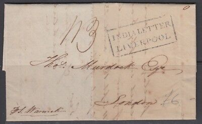 GB 1837 India Letter Liverpool Cover From Madras (Nov18)