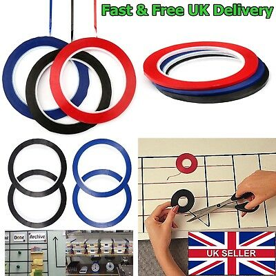 3mm Self Adhesive Whiteboard Grid Gridding Marking Tape Non Magnetic Fine New UK