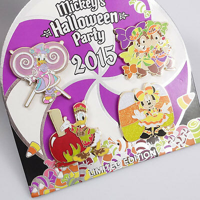 Disneyland trading pins Mickey's Halloween Party 2015 4 pin set Chip Dale 112278