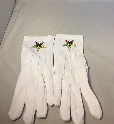 Order of the Eastern Star Symbol Gloves-New!
