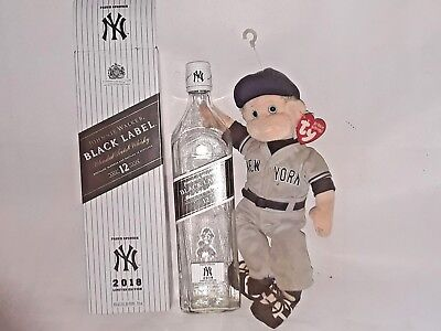 JOHNNIE WALKER Black Label YANKEES 2018 LIMITED EDITION (Empty bottle and box)