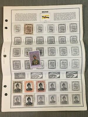 Brunei Stamps on Album Page