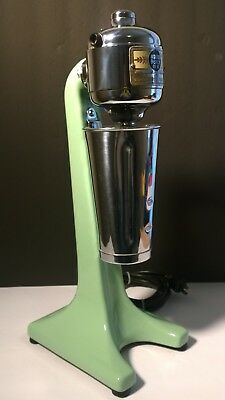 Vintage Jadite Green Hamilton Beach No. 18 - 2 Speed Malt Milkshake Mixer & Cup