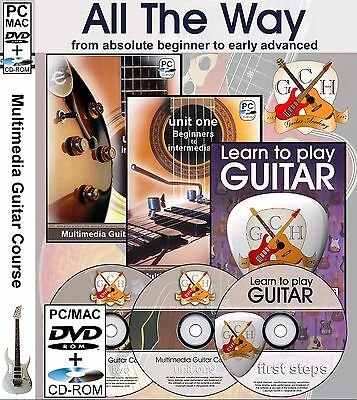 Learn to play Guitar - Complete guitar course all the way from the beginning.