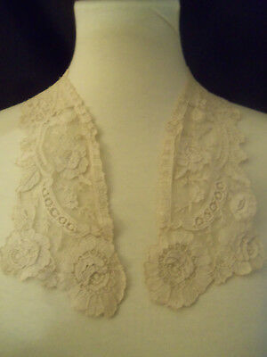 Gorgeous Delicate Brussels Lace Antique Victorian Collar