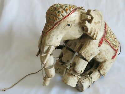 Antique Indonesian Elephant Marionette Puppet