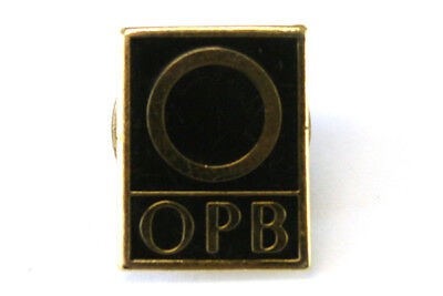 OPB Oregon Public Broadcasting Rectangular Black & Gold Metal & Enamel Pin