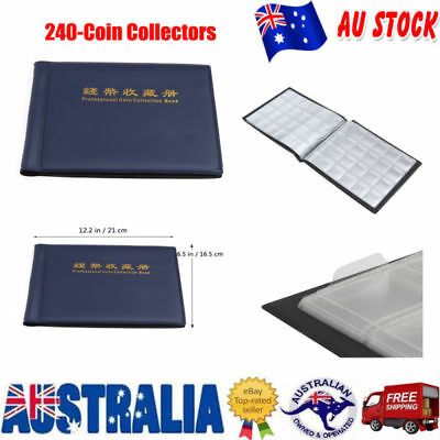 240 Holders Collect Collecting Money Penny Pocket Collection Coin Storage Album