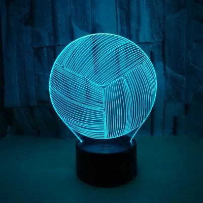 Pretty volleyball Lamp 7 Colors Changer 3D LED Night Light For Home Decor