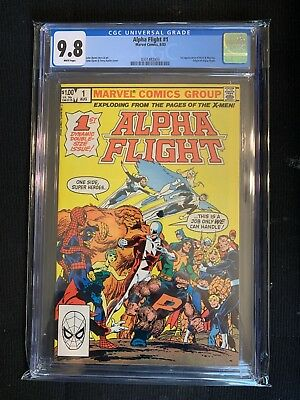 Alpha Flight #1 CGC 9.8 NM/M 1st Appearance of Puck & Marrina White Pages