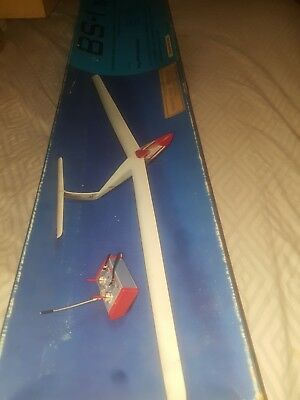 model airplane kit  wilfried klinger BS 1 RC GLIDER vintage N.O.S in box