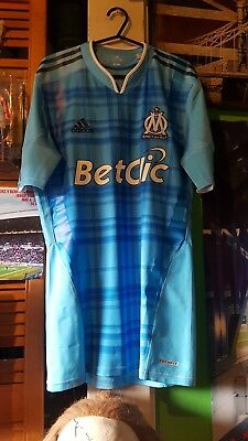 Adidas olympic marseille   player issue spec match  shirt (large) techfit