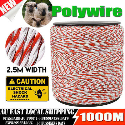 1000m Polywire for Electric Fence Fencing Stainless Steel Poly Wire AU Stock
