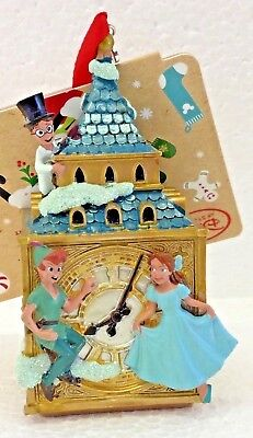 Disney Sketchbook Christmas Ornament Peter Pan Darling Big Ben Clock Tower NWT
