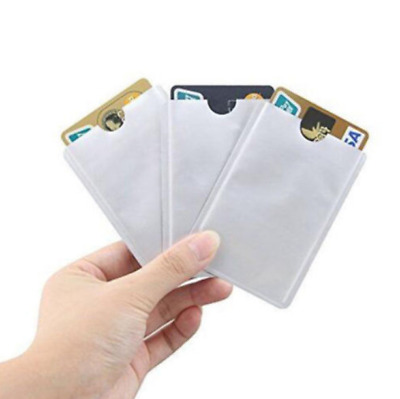 5Pcs Credit Card Holder Blocking Anti Theft Protector RFID Secure Sleeve Cases