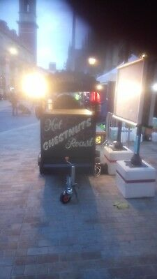 Used catering hot chestnut trailer