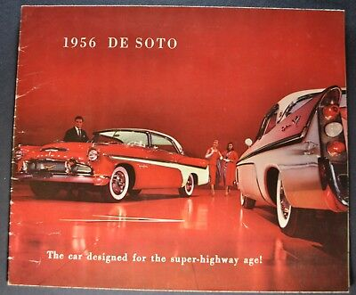 1956 DeSoto Sales Brochure Folder Fireflite Firedome Excellent Original 56