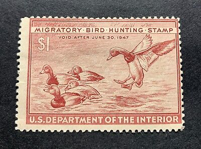 WTDstamps - #RW13 1946 - US Federal Duck Stamp - Mint H