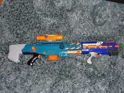 Nerf Zombie Strike Longshot Blaster with barrel and scope