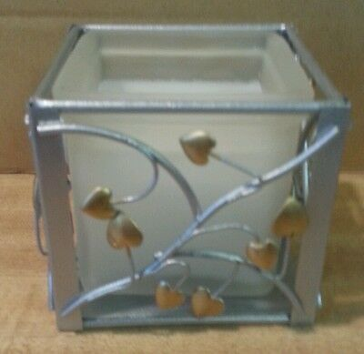 Hallmark Candle in Glass and Metal Holder New
