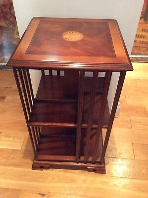 Superb looking Georgian style 2 tier revolving bookcase on Ogee bracket feet
