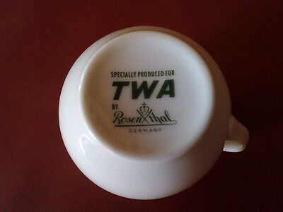 TWA Airlines Rosenthal 1960s 70s Coffee Cup FIRST CLASS