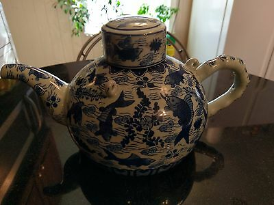 Awesome Antique Goodluck Fish Japanese Teapot