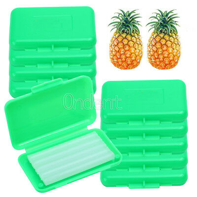 10Boxes Dental Orthodontic Wax Green -Pineapple Scent For Braces Gum Irritation
