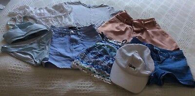 Girls Junior Youth Size 8 Bulk Lot City Beach Clothes with Bonus Stussy Cap 😃