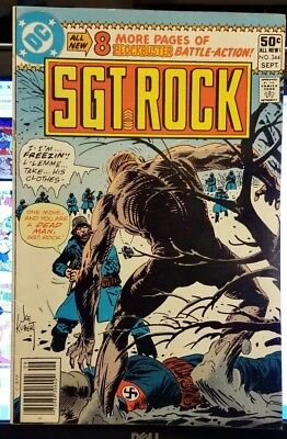 Sgt. Rock Comic Book #344, DC Comics 1980 GOOD+