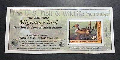#RW68A 2001 - 2002 - US Federal Duck Stamp - Creases