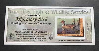 #RW68A 2001 - 2002 - US Federal Duck Stamp - Signed
