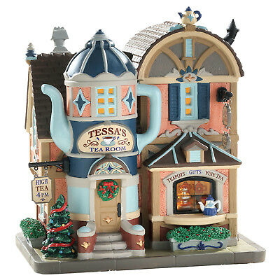 Lemax Tessa's Tea Room Village Building Christmas Holiday Collection