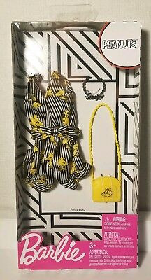 BARBIE Fashion Pack Doll Clothes PEANUTS WOODSTOCK Striped Romper Short IN HAND