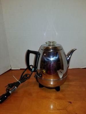 VINTAGE GE General Electric 18P40 9-Cup Pot Belly Electric Coffee Percolator