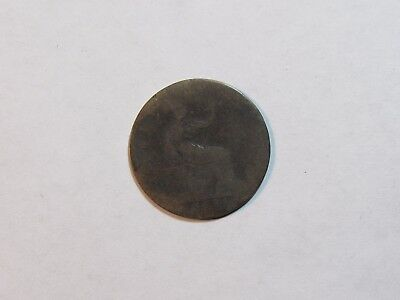 Old Great Britain Coin - 1884 Half Penny Halfpenny - Circulated, spots