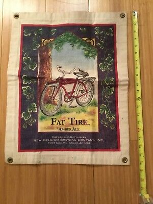 New Belgium Brewing Co. Fat Tire Amber Ale Beer canvas sign