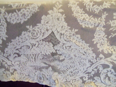 Beautiful Vintage Scenic Lace Table Runner