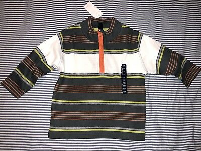 NWT Baby Gap Boys Striped Polo Zippered Sweater Top 3 Years SELLING TONS!