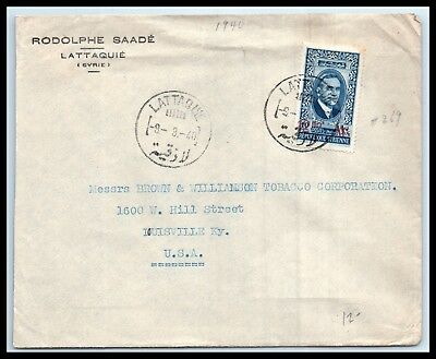 GOLDPATH: Syria cover, 1940, To Louisville KY USA, CBHW_05_01