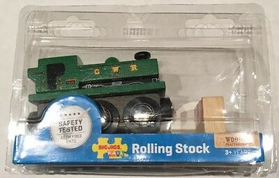 BIGJIGS Heritage Collection GWR Pannier Train Engine Wooden Rolling Stock NIP