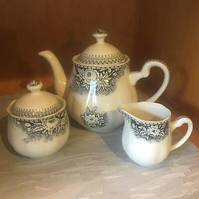 Robert Gordon Coco teapot, sugar bowl & milk jug