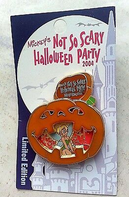Disney pin Tinker Bell with Pumpkin - Mickey's not so Scary Halloween Party 2004